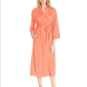 Natori Congo Cotton Robe Coral